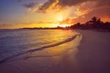Mahahual Caribbean beach in Costa Maya - 177889897