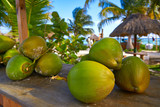 caribbean coconut fruits in Riviera Maya - 177891294