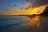 Mahahual Caribbean beach in Costa Maya - 177892266