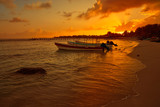 Mahahual Caribbean beach in Costa Maya - 177892275