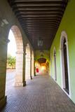 Merida city arcade arcs of Yucatan Mexico - 177894407