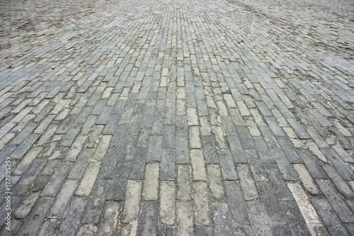 In de dag Stenen Brick field - Forbidden City, Beijing, China