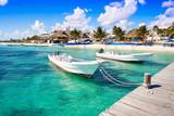 Puerto Morelos beach in Mayan Riviera - 177897841