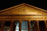 Rome (Italy). Night view of the Pantheon in Rome - 177900092