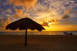 Riviera Maya sunrise in Caribbean Mexico - 177900844