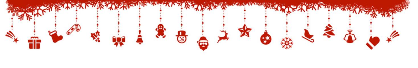 Rot Weihnachten Elemente Icons freigestellt