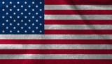 United states fabric flag, USA velvet fabric flag. - 177902872