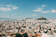 View of Athens cityspace from Acropolis in Athens, Greece