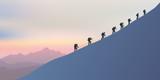 alpinisme - montagne - alpiniste - symbole - union -ensemble - paysage - cordée - escalade - 177922023