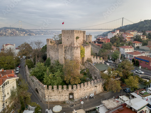 Anatolian Castle Aerial View in Istanbul Turkey Poster