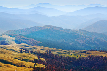 Highlands in Carpathian mountains