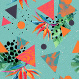 Abstract tropical summer design in minimal style. - 177935632