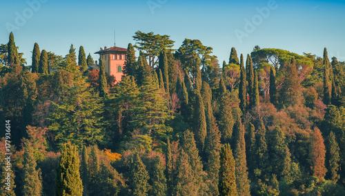 Deurstickers Toscane Tuscany Villa