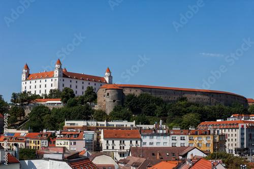 Bratislava Cityscape With Castle Poster