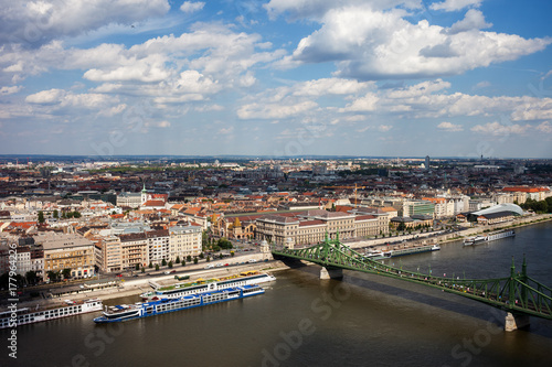 City of Budapest Cityscape Aerial View Poster