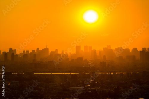 Aluminium Tokio Tokyo Sunset