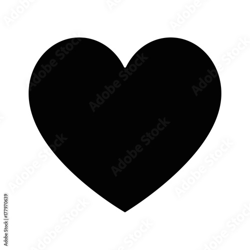 heart love silhouette icon