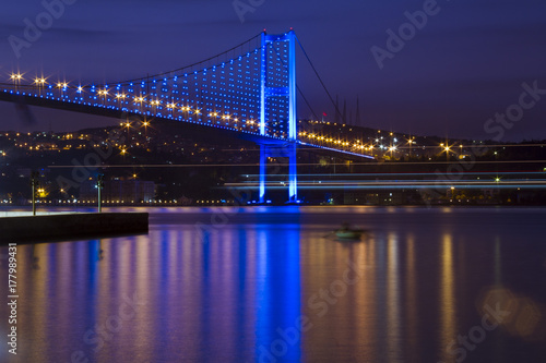 Long Exposure Bosphorus Bridge Poster