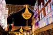 Grafton street in Dublin, Christmas light. The inscription