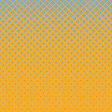 Abstract geometric halftone rounded square pattern background - vector illustration with diagonal squares in varying sizes