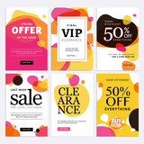 Black Friday sale banners. Set of social media web banners for shopping, sale, product promotion. Vector illustrations for website and mobile website banners, email and newsletter designs, ads. - 177995687
