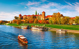 Wawel castle famous landmark in Krakow Poland. Picturesque - 177997278