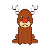 christmas reindeer animal horned funny - 178001461