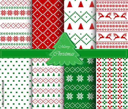 Christmas patterns collection - 178003665