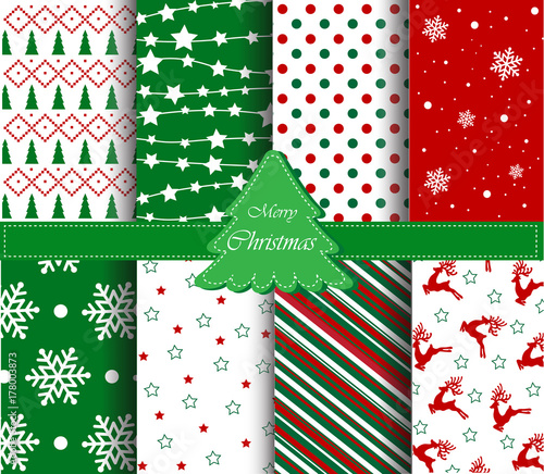 Christmas patterns collection - 178003873