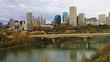 Edmonton city center across North Saskatchewan River