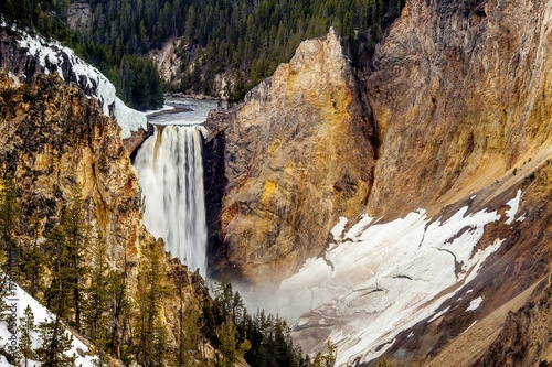 Plakat Yellowstone Upper Falls