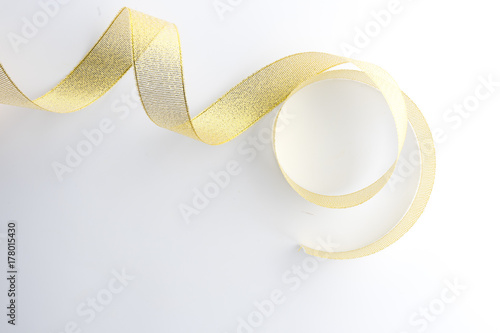 Poster golden ribbon collection isolated