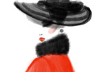 Abstract woman in coat. fashion illustration - 178024854