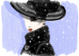 Abstract woman in coat. fashion illustration - 178024871