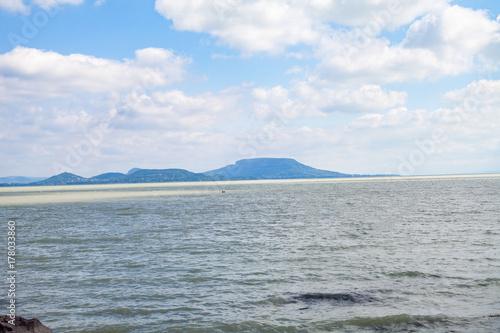 Windy lake Balaton Poster