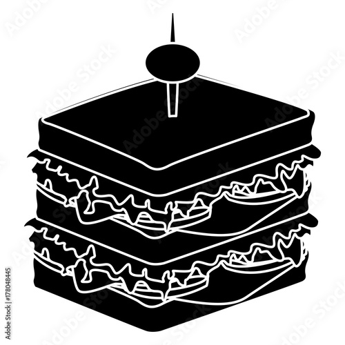 Sandwich healthy food icon vector illustration graphic design
