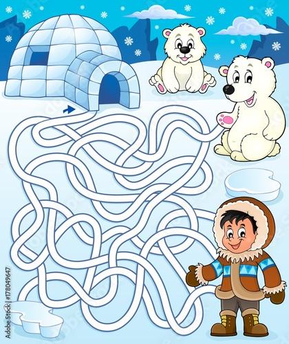 Papiers peints Enfants Maze 4 with arctic theme 2
