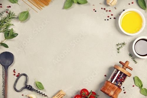 Fridge magnet Cooking background