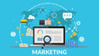 Concept online marketing vector banner for your design eps 10