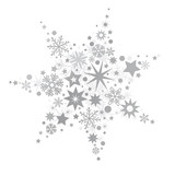 silberner Stern vektor Illustration - 178052235