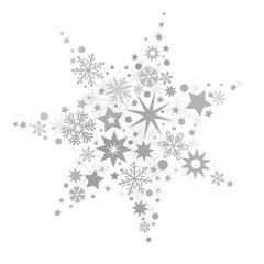 silberner Stern vektor Illustration