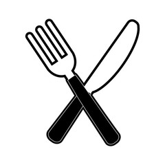 fork and knife cutlery icon image vector illustration design