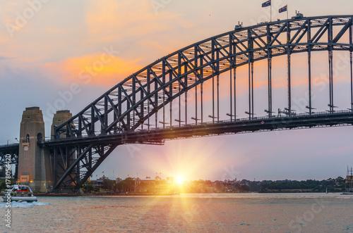 Sunset in Sydney Poster
