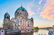 Sunset at Berlin Cathedral in Berlin, Germany