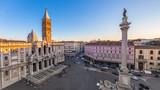 Aerial view of the Basilica di Santa Maria Maggiore in Rome, Italy - 178064862