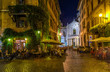 Quadro View of old cozy street in Rome, Italy