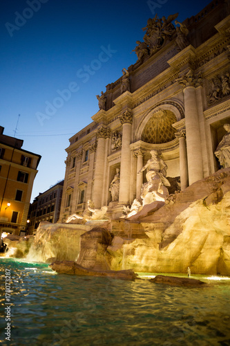 Rome at night: Trevi's fountain Poster