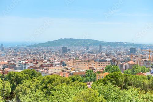 Fotobehang Barcelona Panoramic view of city of Barcelona
