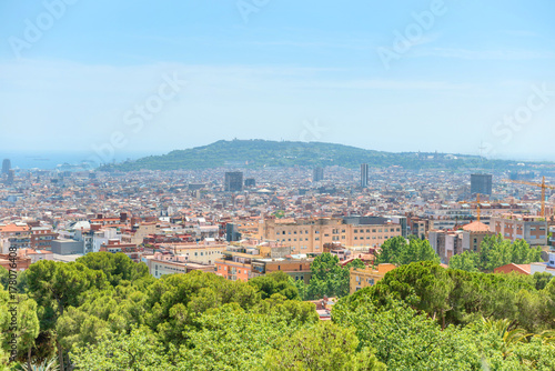 Panoramic view of city of Barcelona Poster