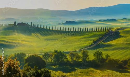 Deurstickers Toscane Colline toscane